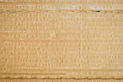 Corrugated cardboard texture Stock Photography