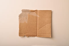 Corrugated cardboard texture. A corrugated cardboard, with all the details stock image