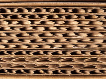 Corrugated cardboard texture background Royalty Free Stock Photos