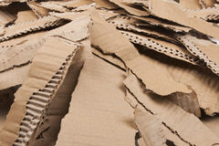 Corrugated cardboard torn pile Stock Image