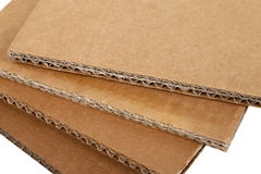 Corrugated Cardboards Stock Image