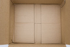 Corrugated carton Stock Photo