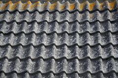 Corrugated ceramic roof pattern Stock Photography