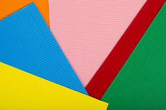 Corrugated color cardboard. Stock Photography
