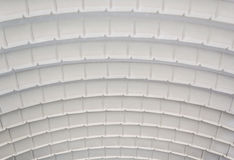 Corrugated curved sheet. Closeup roof structure of corrugated curved sheet Royalty Free Stock Photography