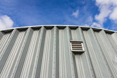 Corrugated facade Stock Images