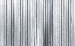 Corrugated galvanized metal wall texture Royalty Free Stock Photo
