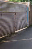 Corrugated Gate Royalty Free Stock Image