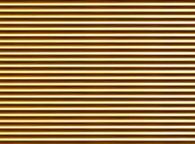 Corrugated golden abstract background. horizontal tubes texture ribbed pattern. Light Royalty Free Stock Photography
