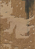 Corrugated grunge texture. Scanned image of torn cardboard background texture Stock Photography