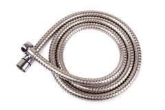Corrugated hose shower Isolated on white background Royalty Free Stock Images