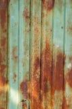 Corrugated iron Stock Image