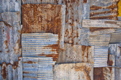 Corrugated iron background Royalty Free Stock Image