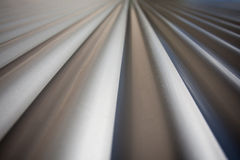 Corrugated Iron Diminishing Perspectivel Royalty Free Stock Photography