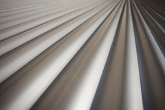 Corrugated Iron Diminishing Perspectivel Stock Photo