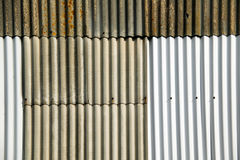 Corrugated iron fence Stock Photo