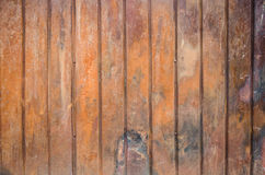 Corrugated iron metal. Texture of old garage. Texture of rusted metal shutters Royalty Free Stock Photos