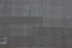 Corrugated Iron Panels on Large Round Container Stock Images
