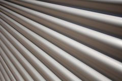 Corrugated Iron with Perspective Stock Photo