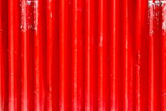 Corrugated iron plate used in construction works stock photography