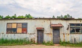 Corrugated Iron Shed Stock Image