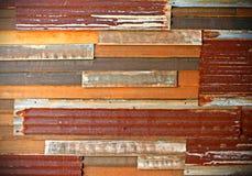 Corrugated iron sheets Stock Image
