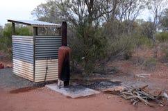 Corrugated Iron Shower. Stock Photography