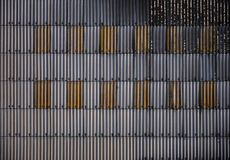 Corrugated-iron-wall. Texture of grunge weathered corrugated iron or tin shed building Stock Photography