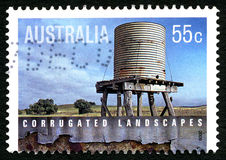 Corrugated Landscapes Australian Postage Stamp Stock Photo