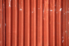 Corrugated metal. Detail of a dilapidated warehouse building Stock Image
