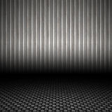Corrugated Metal Backdrop vector illustration