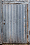 Corrugated Metal Door Royalty Free Stock Image