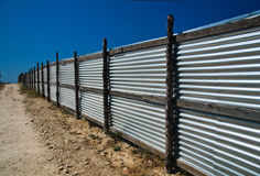 Corrugated metal fence Royalty Free Stock Photography