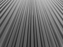 Corrugated metal fence Stock Images