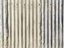 Corrugated metal fence on construction site Stock Photography