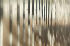 Corrugated metal fence Royalty Free Stock Images