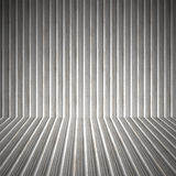 Corrugated Metal Interior. A 3D interior space with corrugated metal on the walls and floor Stock Photography