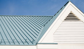 Corrugated metal roof Stock Image