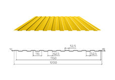 Corrugated metal roof,  illustration Royalty Free Stock Image