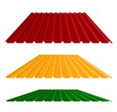 Corrugated metal roof,  illustration Stock Photos