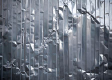 Corrugated metal rumpled sheet texture Stock Photography