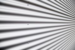 Corrugated metal sheet Stock Photography