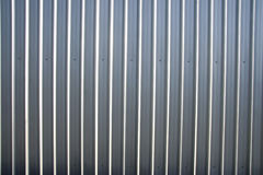 Corrugated Metal Sheet Fence Stock Photo