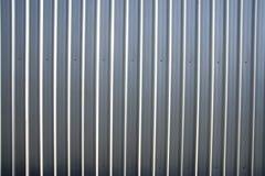 Corrugated metal sheet fence Stock Photo