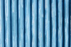 Corrugated metal sheet fence Stock Photos
