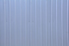 Corrugated metal sheet. Stock Image