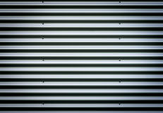Corrugated metal sheet. Silver gray background pattern with nice vignetting. Royalty Free Stock Images