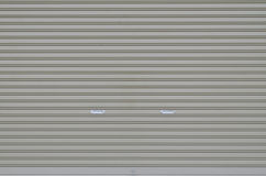 Corrugated metal sheet slide door Stock Photography
