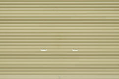 Corrugated metal sheet slide door Royalty Free Stock Photo