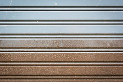 Corrugated metal sheet slide door Royalty Free Stock Photos